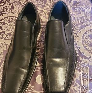 Men's Blk Leather Dress Shoes